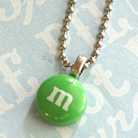 m&m's necklace by Jilliciouscharms on Etsy