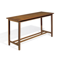 Oxford Garden DM79TAU Dartmoor Brown Umber Long Bar Table