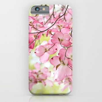 pink dogwoods iPhone & iPod Case by Sylvia Cook Photography