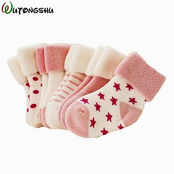 5 Pairs/ 3 Pairs/Lot Winter Warm Baby Girls Boy Socks Spring Summer Newborn Baby Boy Socks For 0-2Y Meias Para Bebe Calcetines