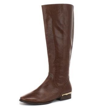 Tavish Cognac Leather Boot
