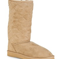 Diamond Quilted Sherpa Boot - Aeropostale