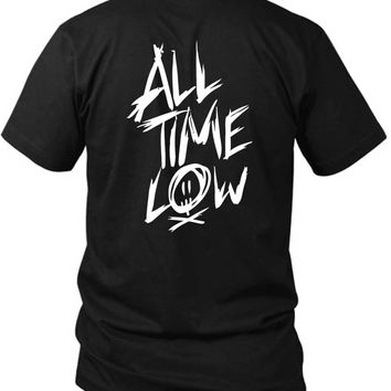 All Time Low Title 2 Sided Black Mens T Shirt