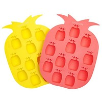 SUNNYLIFE - Pineapple Ice Tray | Yellow & Coral