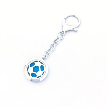 Soccer Ball Diffuser Clip-on Keychain