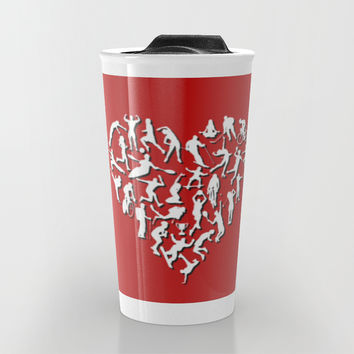 I Love Sports (v2) Travel Mug by Savousepate