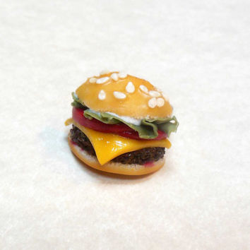 Polymer Clay Cheeseburger Ring
