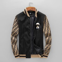 FENDI 2018 autumn and winter new style brand fashion casual thin section embroidery logo jacket
