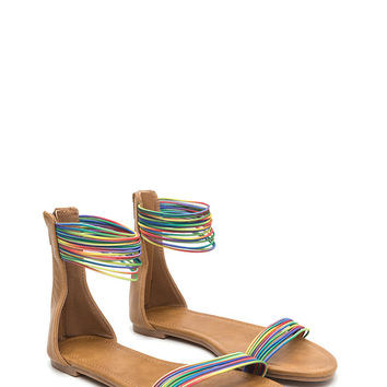 Power Cords Rainbow Strap Sandals GoJane.com