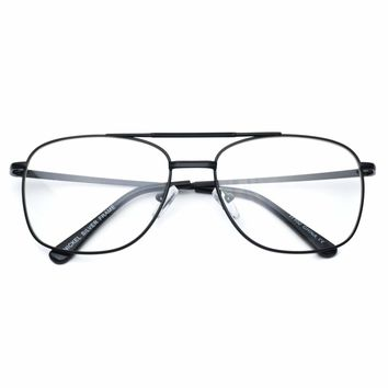 Kevin Rectangular Clear Lens Plastic Retro Hipster Glasses
