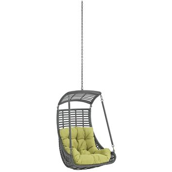 Jungle Outdoor Patio Swing Chair Without Stand Peridot EEI-2655-PER-SET