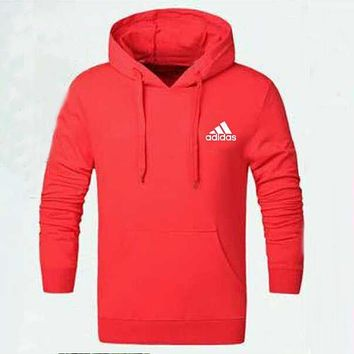 Adidas Women Men Fashion Casual Hooded Top Sweater Pullover