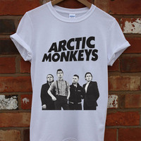 NEW Arctic Monkeys Logo Shirt White Men Women T-shirt RF-15