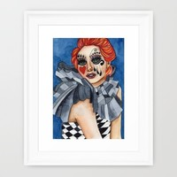 Harlequin - watercolor Framed Art Print by Heaven7