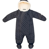 Quiltex Navy Sherpa-Lined Bunting & Bootie - Infant   zulily