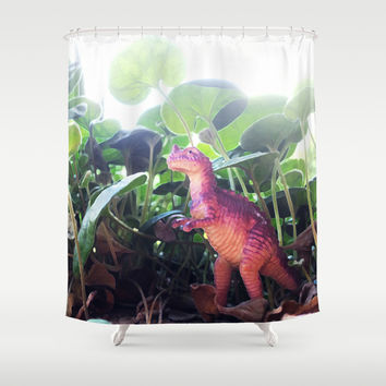 Dinosaur Shower Curtain by Cafelab