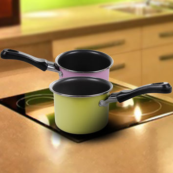 Mini Pan Chocolate Milk Sauces Cuisine Pan Portable Picnic Pot Kitchen Cookware Pans for Camping Cooking Making Delicious Food