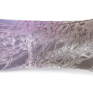 Pine Tree 8x16 Silk-Blended Pillow, Iris, Decorative Pillows