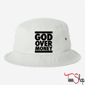 God Over Money bucket hat