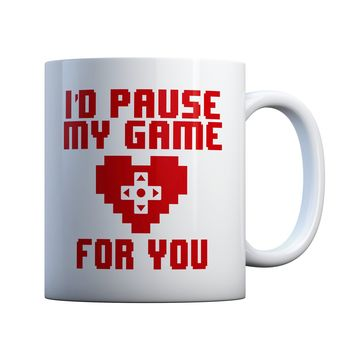 I'd Pause My Game For You Couples 11 oz Coffee Mug Ceramic Coffee and Tea Cup
