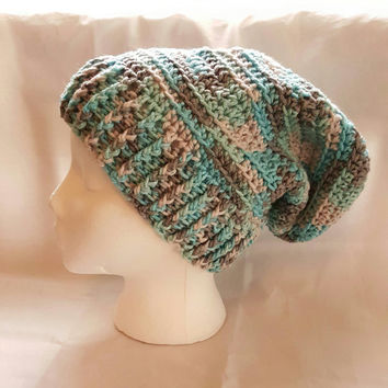 Icelandic Slouchy Beanie Hat For Teens Or Adults. Handmade. Crochet Hat. Winter Hat. Oversize Hat.