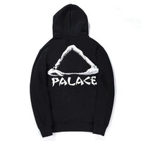 PALACE Women Men Fashion Casual Edgy Pattern Hooded Top Sweater Pullover-2