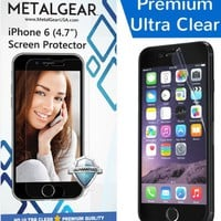 iPhone 6 Screen Protector (4.7 inch display), High Definition (HD) Ultra Clear Screen Protector with Microfiber Cleaning Cloth