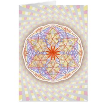 Happines Spiritual Sacred Geometry Rangoli Card