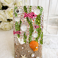 Original Ocean Beach Crystal Bling Bling Phone Case
