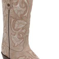 Corral Bone Floral Full Stitch Cowgirl Boots