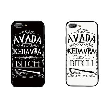 FATPERSON Avada Kedavra Bitch Harry Potter Black CASE Cover For samsung Galaxy S8 S9 S7 edge For iphone 6 6S 7 8 X Plus 5 5S 10