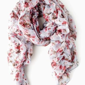 Grey-Pink-Floral-Ruffled-Scarf