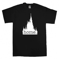 disney castle home logo For T-Shirt Unisex Adults size S-2XL