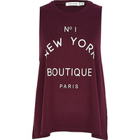 Dark red No.1 New York boutique tank top