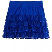 Tiered Mesh Knit Skirt | Skirts & Skorts | Clothes | Shop Justice