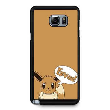 Pokemon Cute Eevee 2 Samsung Galaxy Note 5 Case