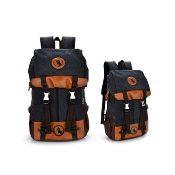 Student Backpack Children Canvas Schoolbag Boys and Girls fashion trend junior High school students Backpacks Travel bag High quality Computer Backpacks AT_49_3