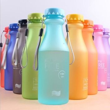 Candy Color Leak-Proof Portable Yoga Fitness Water Bottle - BPA Free