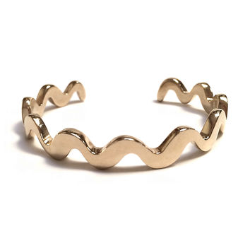 Annie Costello Brown - Wavy Line Cuff