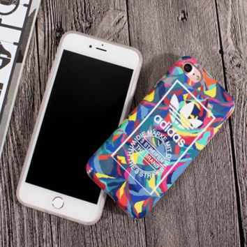 Adidas Fashion new colorful graffiti print woemn and men phone case protective case Colorful
