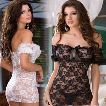 On Sale Cute Hot Deal Sexy Lace Sleepwear Hot Sale Exotic Lingerie [6595821635]