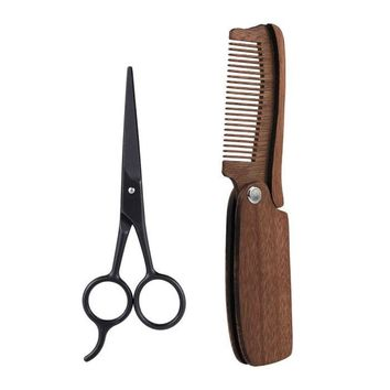 Beard Comb and Scissors Kit