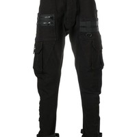 C2h4 drop-crotch Tapered Trousers - Farfetch