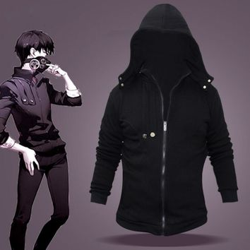 New Hoodie Anime Cosplay kaneki ken Jacket Men Autumn Winter Thickening Coat Tokyo Ghoul Cosplay Costume