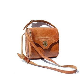 Tan Leather Shoulder Bag