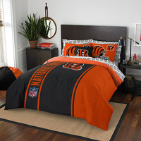 Cincinnati Bengals NFL Full Comforter Bed in a Bag (Soft & Cozy) (76in x 86in)