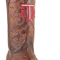 Gameday Texas A&M Mens Leather Boots M092 - Brass