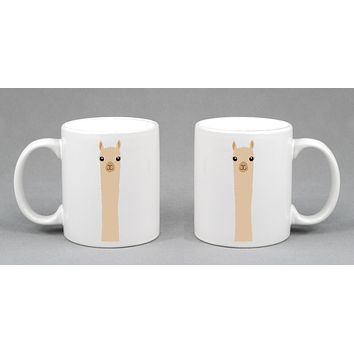Alpaca Watching Coffee Mug