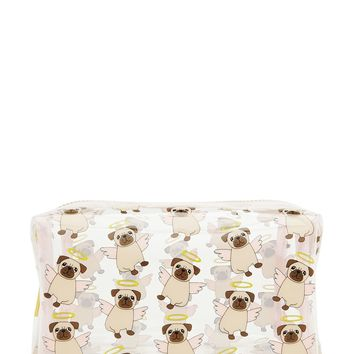 Angel Pug Makeup Bag
