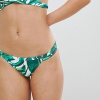 Free Society Double Band Hipster Bikini Bottom at asos.com